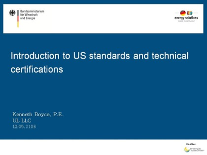 Introduction to US standards and technical certifications