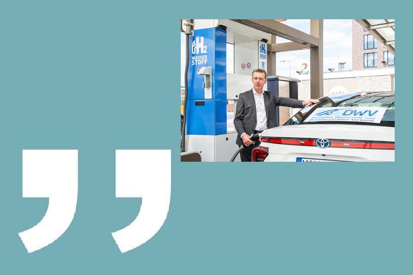 Zitat: Werner Diwald vom Deutschen Wasserstoff- und Brennstoffzellen-Verband (DWV)