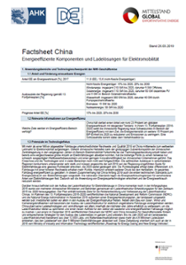 Factsheet China Elektromobilität