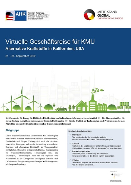 Factsheet USA, Fokus Kalifornien - Alternative Kraftstoffe