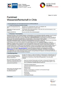 Factsheet: Wasserstoff in Chile