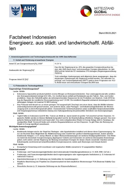 Technologie-Factsheet Indonesien