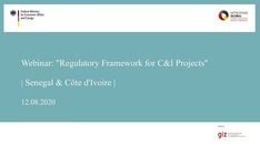 "Webinar: ""Regulatory Framework for C&I Projects"" 
