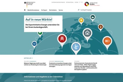Screenshot der Webseite www.german-energy-solutions.de