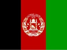 Nationalflagge Afghanistan