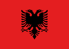 Nationalflagge Albanien