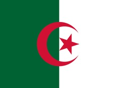 Nationalflagge Algerien
