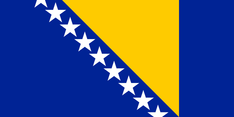 Nationalflagge Bosnien & Herzegowina
