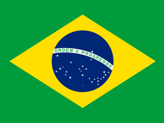 Nationalflagge Brasilien
