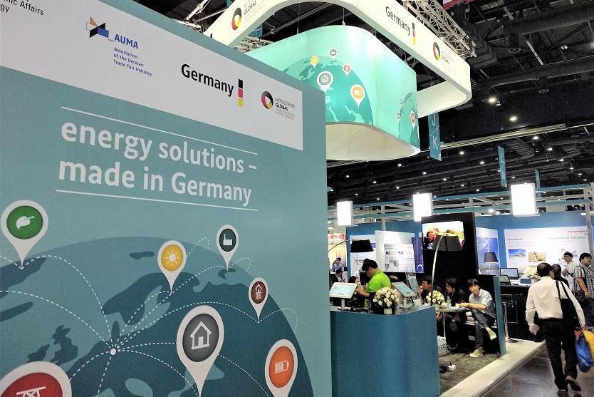Auslandsmessestand der Exportinitiative Energie