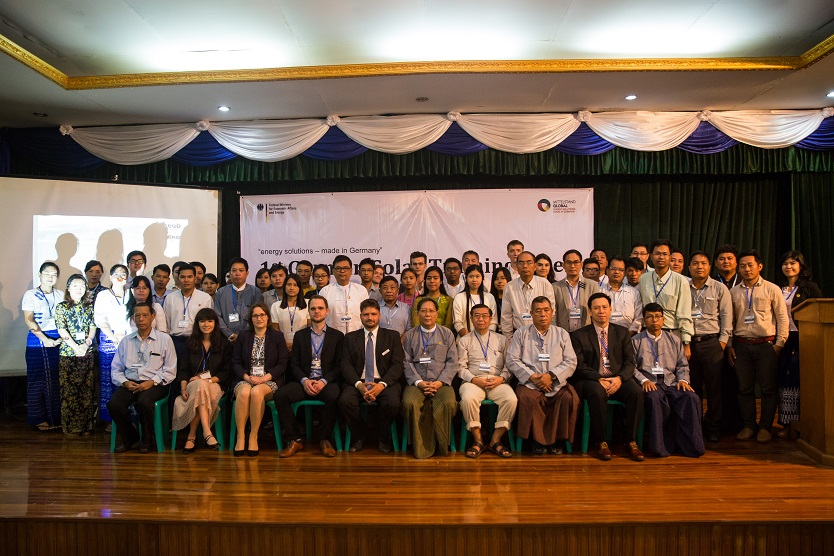 Impression von der German Solar Training Week (GSTW) in Myanmar