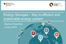 Energy Storages - Key to efficient and sustainable energy system