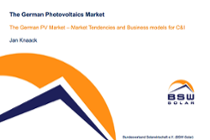 The German PV Market - Market Tendencies and Business models for C&I (Jan Knaack, BSW)