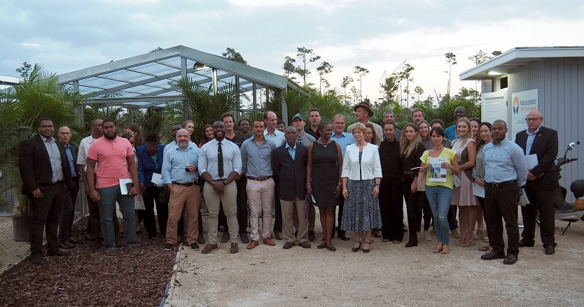 Ceremonial opening of the hybrid center on the Bahamas