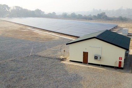 The newly commissioned 1 MW ground-mounted PV-plant of CEC
