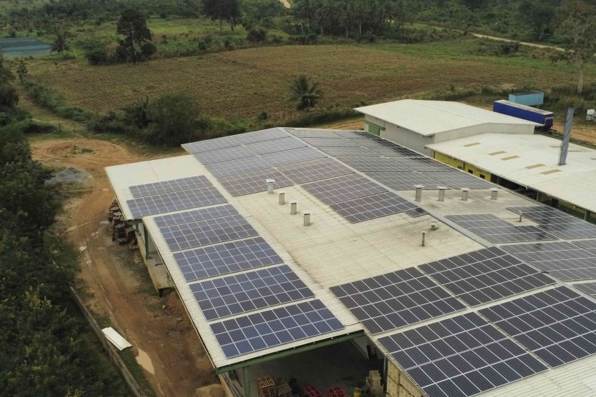 Off-grid PV system at dried and fresh fruits producer in West Akim district Ghana