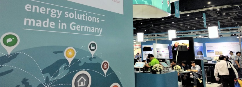 German joint booth at trade fairs