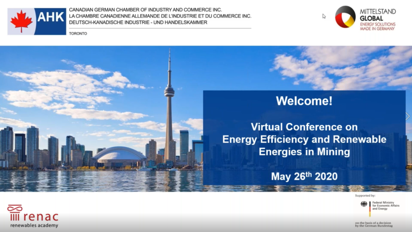 Web Conference on Renewable Energy in Mining